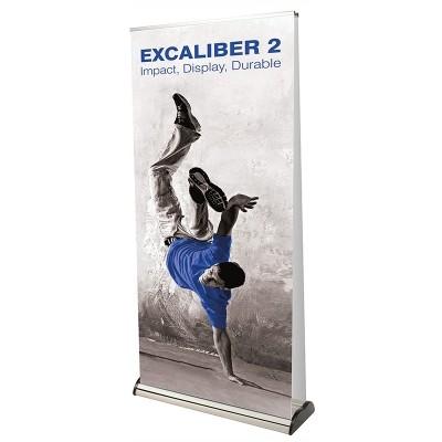 Excaliber 2 dwustronny roll-up klasy prestiż.